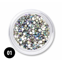 Rainbow strass steentjes 01 - 1,5MM
